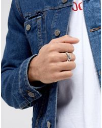 Icon Brand - Metallic Premium Infinity Band Ring In Antique Silver for Men - Lyst