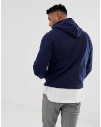 Pull&Bear Hoodie In Marineblauw in het Blue voor heren