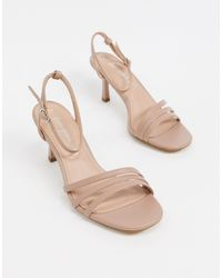 New Look Natural Faux Suede Strappy Sandals