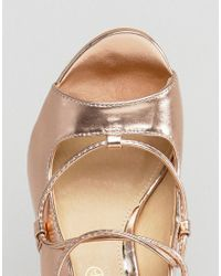 Truffle Collection - Multicolor Tie Up Skinny Heel Sandal - Lyst