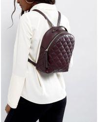 Fiorelli - Purple Mini Anouk Quilted Backpack In Aubergine - Lyst