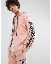 Napapijri - Badstow Zip-thru Hoodie In Pink for Men - Lyst