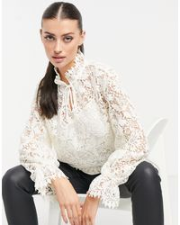 & Other Stories White Lace Blouse