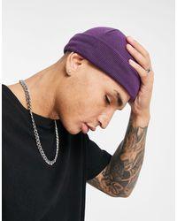 Фиолетовая Шапка-бини ASOS для него, цвет: Purple