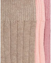 ASOS - Multicolor Boot Socks With Colour Block 3 Pack for Men - Lyst