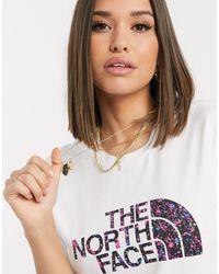 Boyfriend Easy - T-shirt The North Face en coloris White