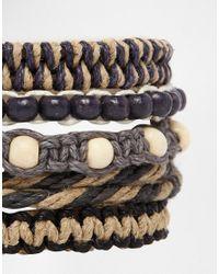 ASOS - Brown Rope Bracelet Pack for Men - Lyst
