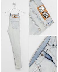 Cheap Monday Blue Him Spray Super Skinny Jeans for men