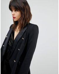 River Island Black Tailored Tux Blazer