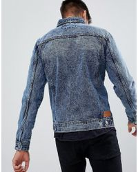 Pull&Bear Blue Denim Jacket for men