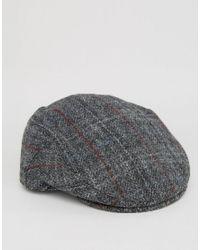 c34edf0d0e Men's Gray Harris Tweed Flat Cap