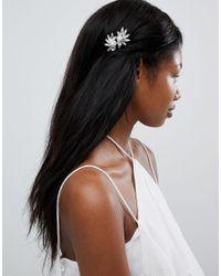 True Decadence Metallic Silver Pearl Embellished Hair Grips