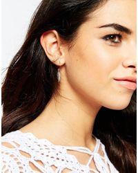 ASOS Multicolor Mismatch Feather Hoop & Stud Earrings