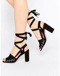 ASOS - Black Embor Multi Buckle Shoe Boots - Lyst