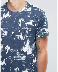 Solid Blue All Over Print T-shirt for men