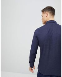 Mango Blue Man Slim Polo Shirt In Navy for men
