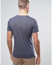 Casual Friday Black T-shirt In Marl for men