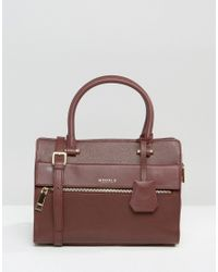 Modalu   Leather Mini Tote Bag - Claret Red   Lyst