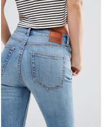 Weekday - Metallic Thursday High Waist Skinny Jeans - Lyst