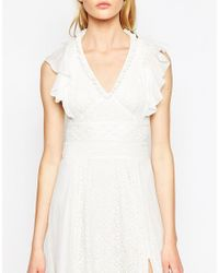 French Connection White Dayton Lace Maxi Dress