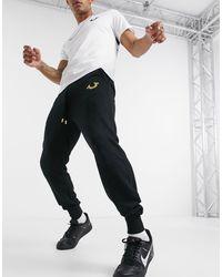 Черные Джоггеры С Золотистым Логотипом -черный True Religion для него, цвет: Black