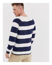 Top manches longues en maille rayée - Blanc Only & Sons pour homme en coloris Blue
