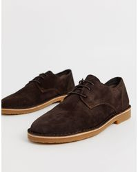 Office Brown Inferno Desert Shoes for men