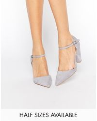 ASOS Gray Speaker Pointed Heels