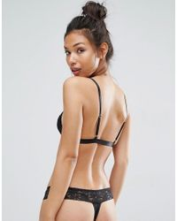 ASOS Multicolor 3 Pack Leafy Lace Band & Microfibre Thong