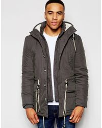 Native Youth | Brown Hooded Explorer Jacket - Grey for Men | Lyst