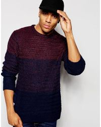 Native Youth | Blue Cut And Sew Gradient Knit Jumper for Men | Lyst