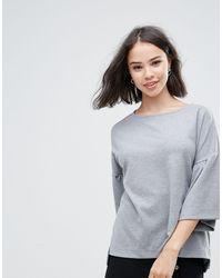 Pull à manches évasées Soaked In Luxury en coloris Gray