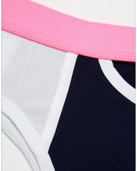 ASOS - Pink Briefs In Navy With Mesh Panels And Cut Out Back Detail for Men - Lyst