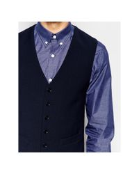 Number Eight Savile Row - Blue Exclusive Travel Waistcoat With Stretch In Skinny Fit for Men - Lyst