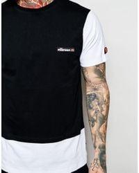 Ellesse - Black T-shirt With Contrast Logo Hem for Men - Lyst