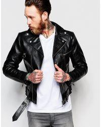 Nudie Jeans | Black Ziggy Leather Biker Jacket for Men | Lyst
