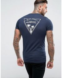 e0892d958ba660 Asos Muscle T-shirt With West Coast California Print in Blue for Men ...