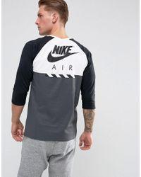 Nike 3/4 Length Sleeve T-shirt In White 873140-100 for men
