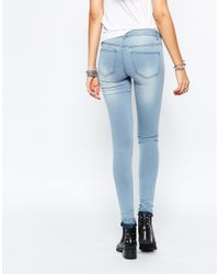 Noisy May Tall - Blue Eve Low Rise Skinny Jean - Lyst