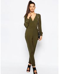 Missguided Green Utility Jumpsuit