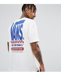 fa9ccb7de32baa Vans Split T-shirt With Back Print In White Exclusive At Asos in ...