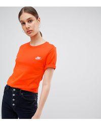 0926f6263 Nike Boyfriend T-shirt With Embroidered Logo In Orange in Orange - Lyst
