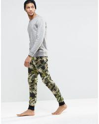 ASOS - Green Loungewear Skinny Joggers In Camo for Men - Lyst