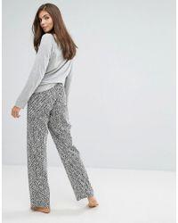 Calvin Klein - Gray Pj In A Bag Long Sleeve Sleep Set - Lyst