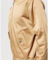 Weekday - Natural Billy Bomber Jacket In Beige for Men - Lyst
