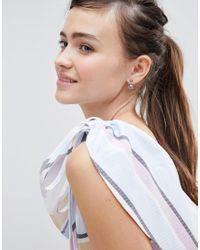 ASOS - Purple Design Jewel Swing Earrings - Lyst