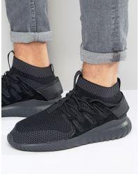 Adidas Originals Tubular Nova Primeknit Trainers In Black S80109 for men