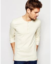 SELECTED - White Long Sleeve Top for Men - Lyst