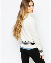 Blend She - White Crystal Cardigan - Lyst