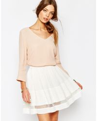 Suncoo | Natural Uncoo V Neck Blouse In Pink | Lyst